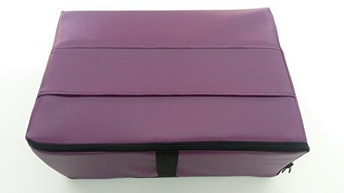 Reise-Matratzenauflage für Flugreisen als Handgepäck aus Viscoschaum mit Tasche aus Kunstleder (orchidee)