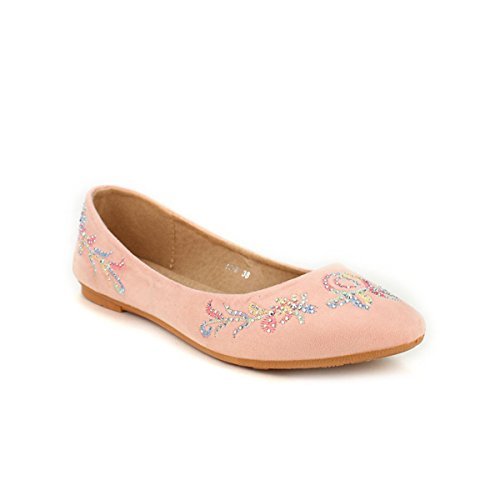 Cendriyon Ballerine Rose Poudré CH Creation Chaussures Femme Rose