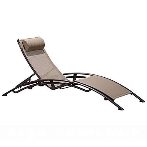 CCDZDM Tragbare Faltbare Chaiselongue Im Freien, Verstellbarer, Schwerkraftfreier Terrassenstuhl Mit Abnehmbarer Kopfstütze Für Den Gartenpool