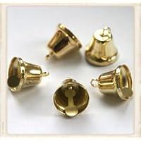 Craft Factory - Confezione da 6 campanelline dorate, 10 mm