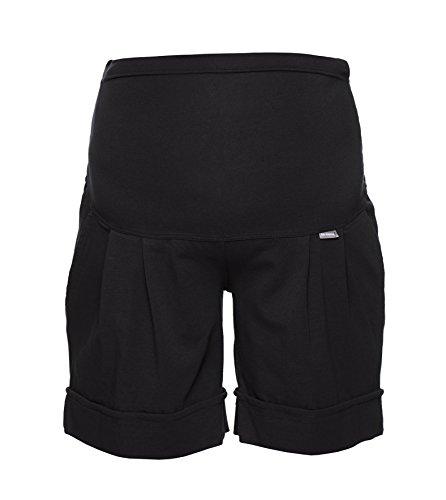Be! Mama Umstandshose, Shorts für Schwangere, hochwertige Baumwolle, Modell: Sawyer (Marco), schwarz, XXL