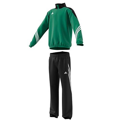 adidas Boys Tracksuit Woven Sereno14 Boys Presentation Football Training Suit Royal Blue 7-15 Years F49679 (128)