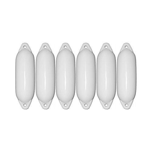 6er-Set Majoni Star 35 Fender Bootsfender weiß 62 x 21 cm