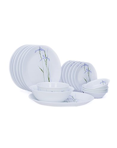 Corelle Asia Shadow Iris Dinner Set,  21-Pieces,  Multicolor  available at amazon for Rs.11381