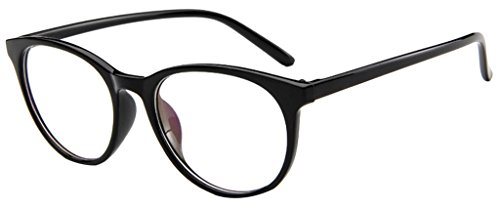 EOZY Retro Brillen Nerdbrille Dekogläser Unisex Rund Lesebrille - Korea Sonnenbrillen Männer