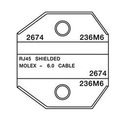 Paladin Tools 2674 Shielded RJ45 AMP/Molex Die, for CrimpALL 8000/1300 Series by Paladin Tools (Crimpall Tool)