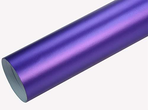 Neoxxim 8€/m2 Premium - Auto Folie - Chrom MATT Lila Ice 30 x 150 cm - blasenfrei mit Luftkanälen Klebefolie Selbstklebefolie selbstklebend flexibel