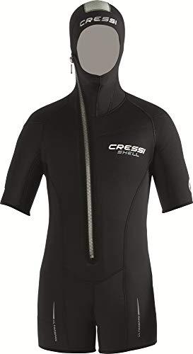 Cressi Sub S.p.A. Shell Jacket Multi Thickness Man Surveste de Plongee avec Cagoule Incorporée Homme, Noir, S/2
