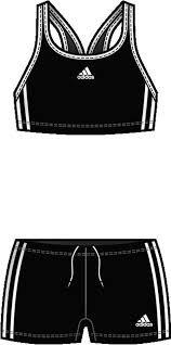 Adidas Mädchen Bikini Young Girls 601427 104 nero-c/bianco-c