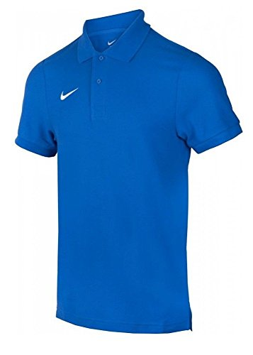 Nike Herren Poloshirt TS Core, blue/white, Gr. L, 454800-463 - Blau Tennis Shirt