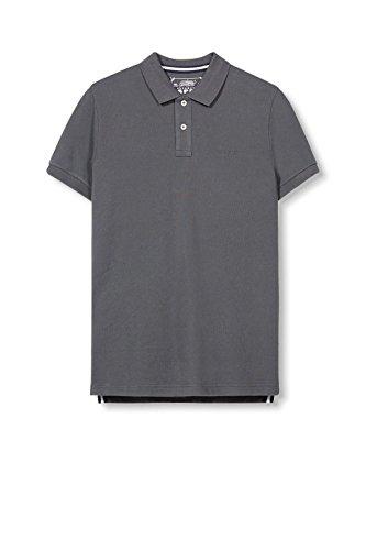 ESPRIT Herren Poloshirt 997ee2k801-Basic Grau (Dark Grey 020)