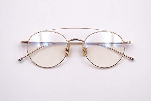 zhj888 Brillengestell Brillengestell Herren Vollformat Brillengestell weibliche Flut mit dem Absatz Metall runden Rahmen kleines Gesicht Retro -