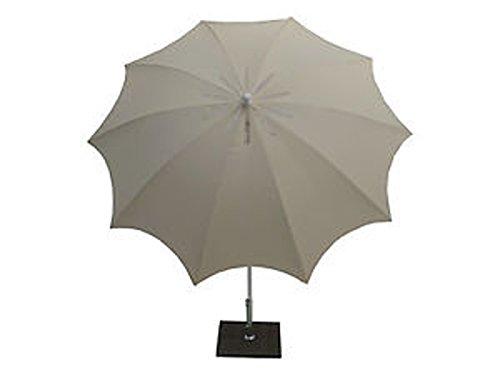 PEGANE Parasol centré en Polyester Coloris Ecru - Dim : Ø 200/10 x H 250 cm