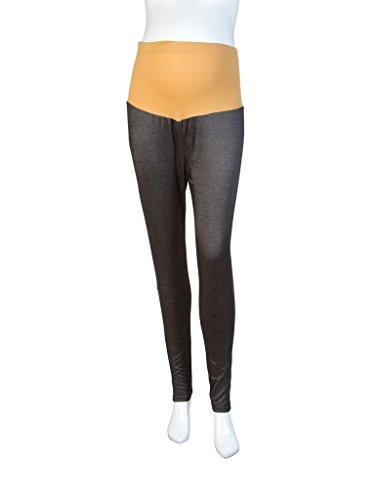 Mee Mee Soft Cotton Maternity Leggings with Rib (Denim Black) (XX Large Size)