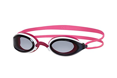 Zoggs Damen Fusion Air Schwimmbrille White/Pink/Smoke, One Size