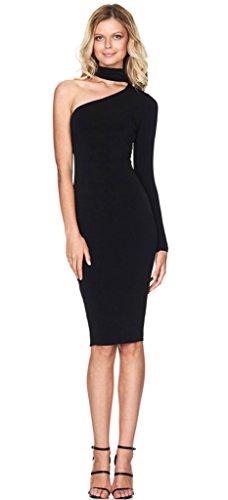 alaix-womens-partito-sexy-abiti-elasticizzato-halter-singolo-shoulder-prom-abito-black-large