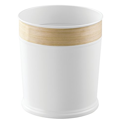interdesign-90180eu-realwood-mulleimer-papierkorb-edelstahl-weiss-helles-holz-finish-205486-x-205486