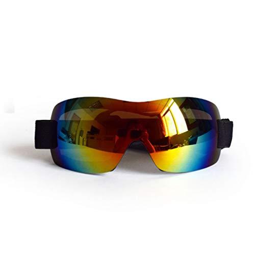 XDYFF Hundesonnenbrille für große Hunde UV-Schutz Wasserdicht Winddicht Augenschutz für Groß/Mittel Hund,Yellow