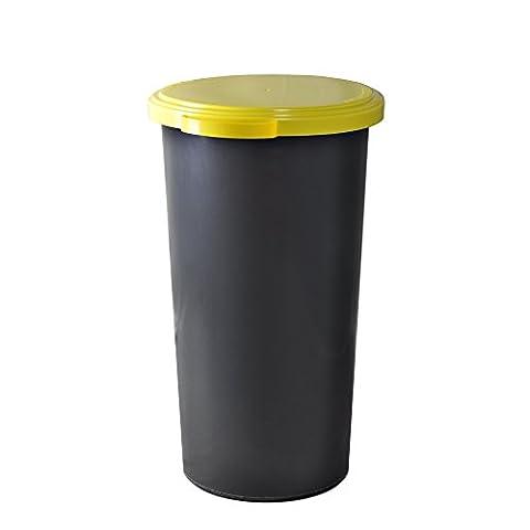 KUEFA 60L Müllsackständer mit flachem Deckel - Gelber Sack Mülleimer