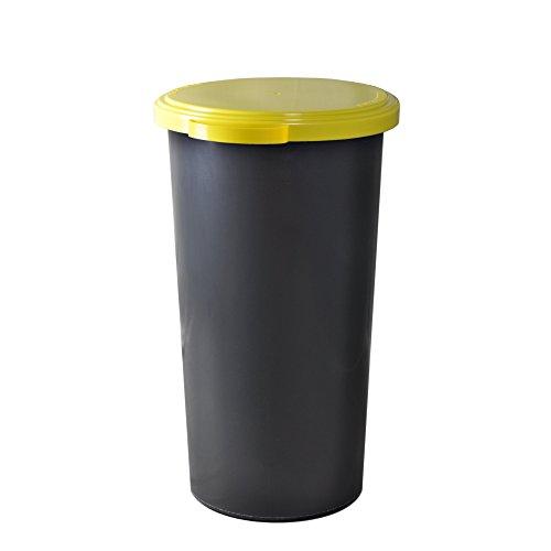 *KUEFA 60L Müllsackständer mit flachem Deckel – Gelber Sack Mülleimer*