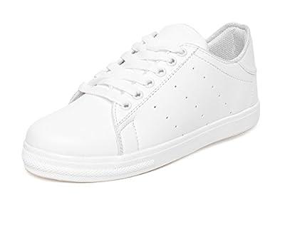 VENDOZ Women White Sneakers Casual Shoes
