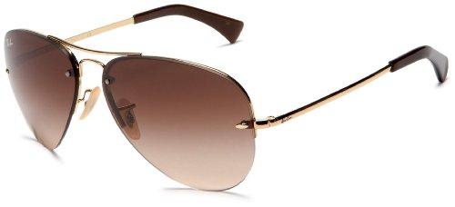 Ray-Ban Aviator Sunglasses (Brown) (Rb3449 001/13 59 - Rb3449)