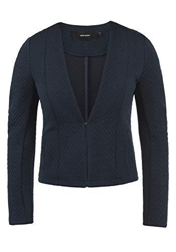VERO MODA Bridget Damen Blazer Kurzblazer Jacke Mit V-Ausschnitt, Größe:XS, Farbe:Navy Blazer