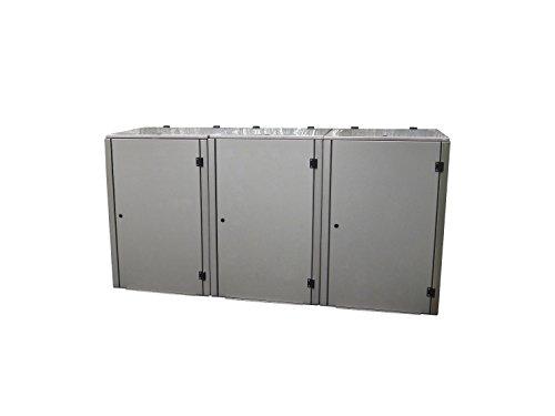Mülltonnenbox Edelstahl, Modell Eleganza G 120 Liter als Dreierbox - 4