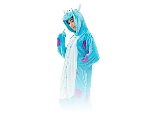 (Onesie Sulley Monster M Große Cosplay Kostüme Pyjama Erwachsene)