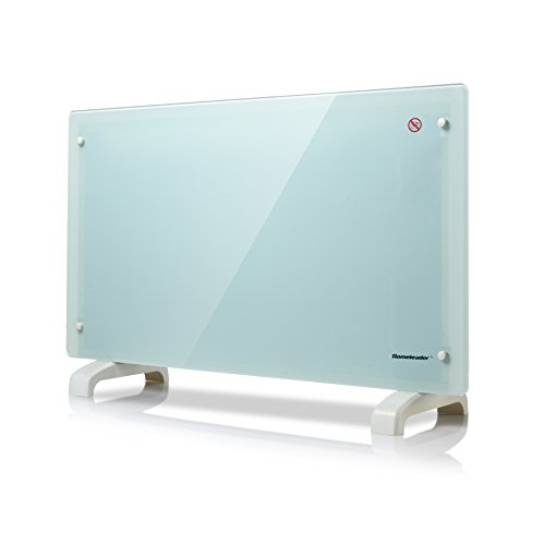 Homeleader GHB-20A elektrische Konvektor Heizung/ 2000 Watt Glas Konvektor mit 2 Heizstufen/Überhitzungsschutz/Sicherheitsthermostat/wasserdicht/für ca. 20 m²