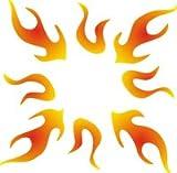 Eulenspiegel 105931 - Selbstklebe Schablone - Flammen