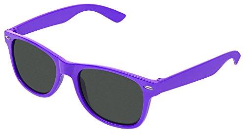 Boolavard TM Sonnenbrille Nerdbrille retro Art. 4026 (Dunkelviolett Tönung)