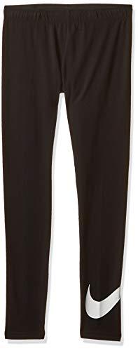 Nike Mädchen Sportswear Leggings, Black/White, L
