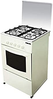 Nikai 50 X 50 cm, 4 Burners Gas Cooking Range, White Color with Glass Lid on Top -U2110N5, 1 Year Warranty