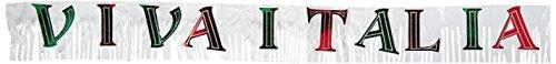Beistle Krawatte 57310Metallic Viva Italia Banner, 25,4cm von Geschenkpapierrolle 244cm -