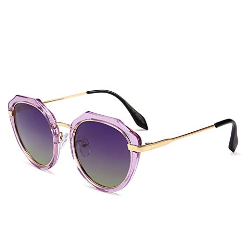 Sonnenbrille UV-Material runder Rahmen mit Buntem polarisierten Licht, geeignet für Reisen, Fahren, Reiten und Tragen von Unisex
