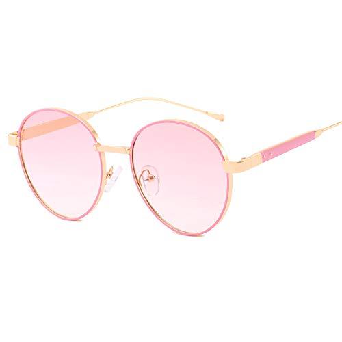 Z&HA Rund-Sonnenbrillen für Frauen stilvolle Gradientenlinsen UV400 Schutzöhrenbrillen für das Fahren,GraduatedPink