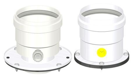 Kit répartiteur D. 80/80verticale C/Bride et inspection aluminium