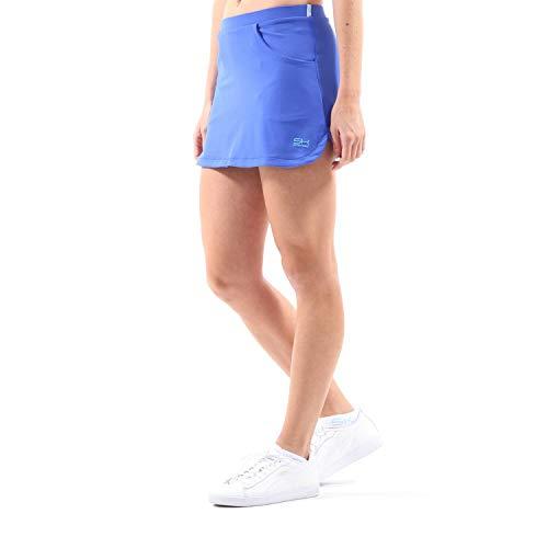 Sportkind Mädchen & Damen Tennis, Hockey, Golf Classic Rock mit Taschen & Innenhose, Kobaltblau, Gr. 164