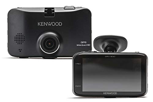 Kenwood DRV-830 Wide Quad HD Dashcam with GPS and Driving Assist System 3.7 MP Black