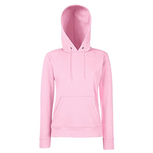 Fruit of the Loom - Lady-Fit Hooded Sweat S,Light Pink
