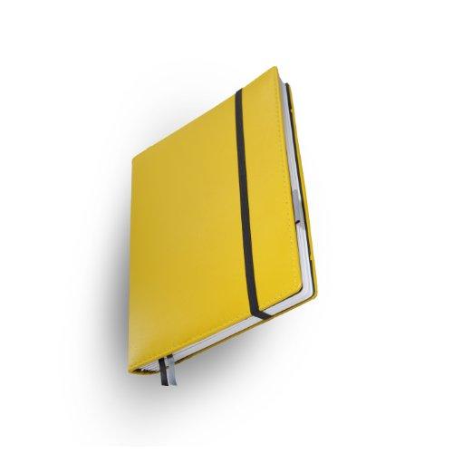 Whitebook Premium P035w-ML, modulares Notizbuch, Nappaleder, rahmengenäht, gelb, 240 S. Papier FSC (iPad Mini & Samsung Tab 8