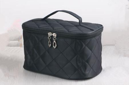 HQYSS Damen-handtaschen Niedliche Portable Faltung wasserdichte Eintritt Paket Make-up Fall m black
