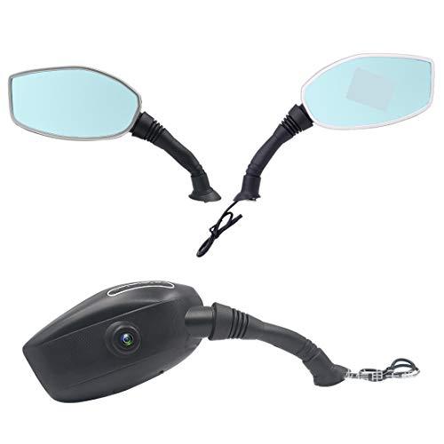 SSCJ Videoregistratore con camma a Doppio Scatto Impermeabile per Moto 1080p con Schermo LCD da 3'. Visore Notturno da 140 G