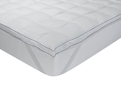 Classic Blanc Topper, sobrecolchón extramullido de plumón de oca, algodón, 180 x 200 cm, cama 180