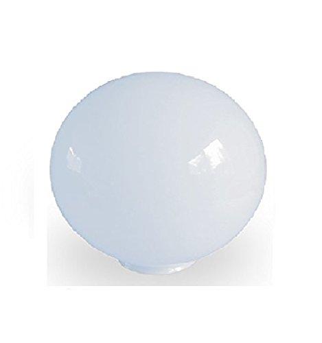 14.0cm diamètre Verre Blanc Sphériques Abat-jour. Circonférence: 44cm, Col (largeur extérieure): 5.5cm dia., Trou: 4.6cm dia. [éclairage lumière ballon rond sphère remplacement lustre globe]