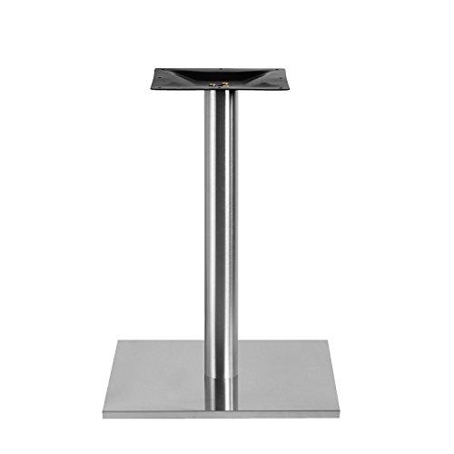 Edelstahl Tischgestell XL Quadrat 50x50cm Bistrotisch