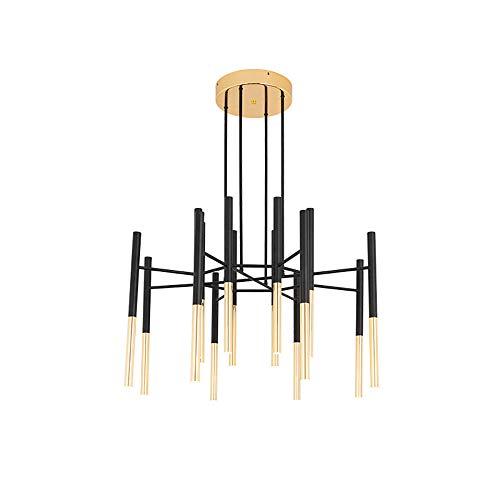 YXTK Deckenlampe Pendellampe Schwarz,Moderne 16 Arm Leuchte Deckenbeleuchtung Industrielle Pendelleuchten Kleiderbügel Verstellbarer Flur Küche Wohnzimmer -