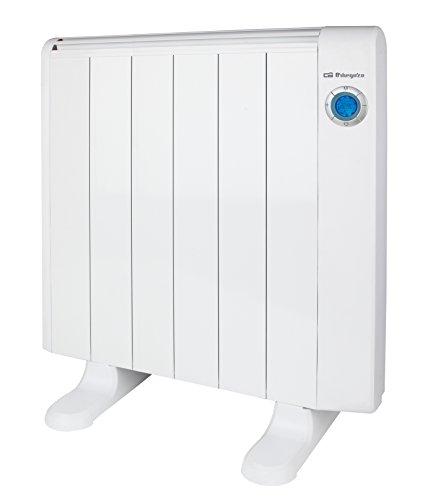 Orbegozo RRE 1000 - Emisor térmico sin aceite, 6 elementos, 1000 W, color blanco