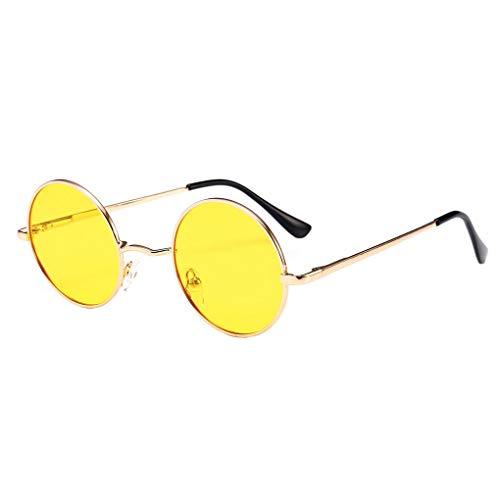 Rekkle Männer Frauen polarisierten Kreis Sun-Glas-Runde Metallrahmen UV400 Eyewear-Harz-Objektiv Brillen Außen Unisex Sonnenbrille